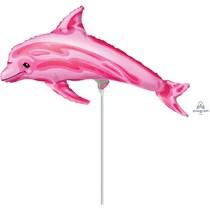 Pink Dolphin Mini Shape Foil Balloon (air fill)