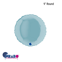 "Grabo Pastel Blue 9"" Round Foil Balloon"