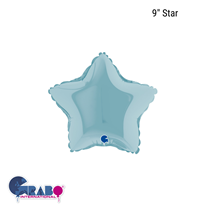 "Grabo Pastel Blue 9"" Star Foil Balloon"