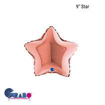 "Grabo Rose Gold 9"" Star Foil Balloon"