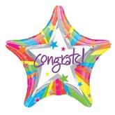 """18"""" Congrats Foil Star Balloon"""