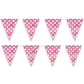 Decorative Dots Hot Pink Flag Banner 12ft