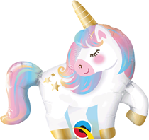 "Mini Pastel Unicorn Air Fill 14"" Foil Balloon"