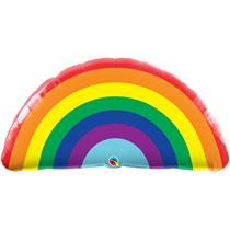 "Bright Giant Rainbow 36"" Foil Balloon"
