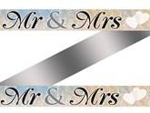 Mr & Mrs Holographic Wedding Foil Banner