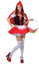 Adult Red Hot Riding Hood Fancy Dress Costume