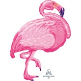 "Flamingo 35"" SuperShape Foil Balloon"