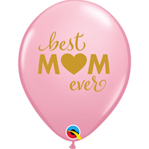 "Mother's Day Best Mum 11"" Pink Balloons 25pk"