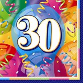 16 Brilliant 30th Birthday Luncheon Napkins