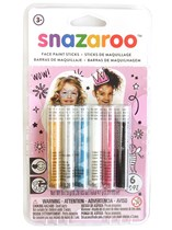 Snazaroo Fantasy Face Painting Sticks 6pk