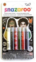 Snazaroo Halloween Face Painting Sticks 6pk