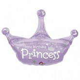 Birthday Princess Crown Foil Balloon