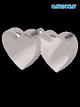 Silver 6oz Double Heart Balloon Weight