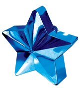 Blue 6oz Star Balloon Weight