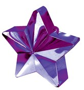 Purple 6oz Star Balloon Weight