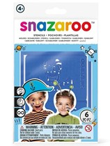 Snazaroo Blue Face Painting Stencil Set