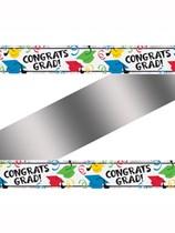 Congrats Grad Multi-Coloured Foil Banner