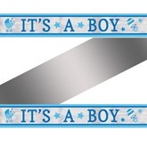 It's a Boy Metallic Foil Banner