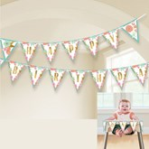 Boho Happy Birthday Flag Banner 4.5M