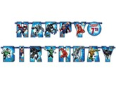Justice League Happy Birthday Add an Age Letter Banner