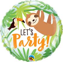 "Let's Party Toucan & Sloth 18"" Foil Balloon"