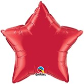 "Ruby Red 36"" Star Foil Balloon"