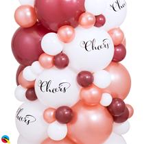 "Cheers Top Print 11"" White Latex Balloons 25pk"