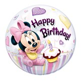 "22"" 1st Birthday Minnie Mouse Bubble Balloon"