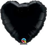 "Onyx Black 18"" Heart Foil Balloon"