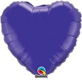 "Quartz Purple 18"" Heart Foil Balloon"