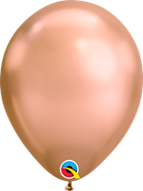 Qualatex rose gold chrome 7 inch latex balloons 100 pack