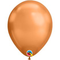 "Qualatex Chrome 11"" Copper Latex Balloons 25pk"