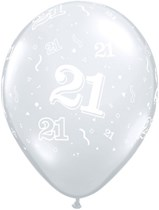 "11"" 21st Birthday Diamond Clear Balloons - 50pk"