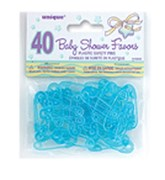 Blue Baby Pins Baby Shower Favours - 40pk