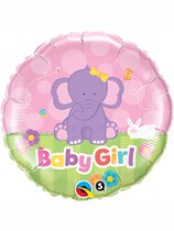 "18"" Baby Girl Elephant Foil Balloon"