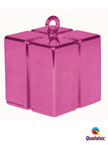 Magenta Balloon Weight Gift Box Shape Single Weight