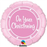 """On Your Christening Foil Balloon 18"""""""