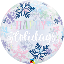 "Christmas Holidays Snowflakes 22"" Deco Bubble Balloon"