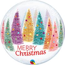 "Christmas Trees 22"" Deco Bubble Balloon"