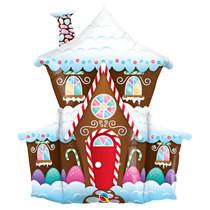 "Christmas Gingerbread House 37"" Foil Balloon"