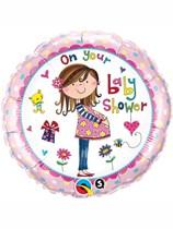 """18"""" Rachel Ellen Baby Shower Foil Balloon"""
