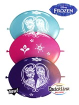 "Frozen Assorted Quick Link 11"" Latex Balloons 50pk"