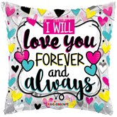 "Forever And Always 18"" Square Foil Balloon"