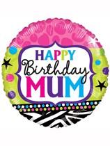 "Happy Birthday Mum 18"" Foil Balloon"