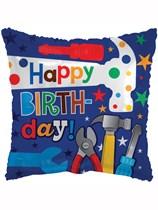 "Happy Birthday Tool Box 18"" Foil Balloon"