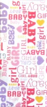 Baby Girl Printed Tissue Paper - 6 sheets