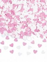 Pink & White Paper Hearts Confetti 56.6g
