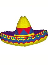 "Mexican Sombrero 34"" Supershape Foil Balloon"