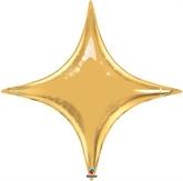 """Metallic Gold 40"""" Starpoint Foil Balloon"""