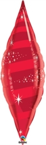"Ruby Red 38"" Foil Taper Swirl"